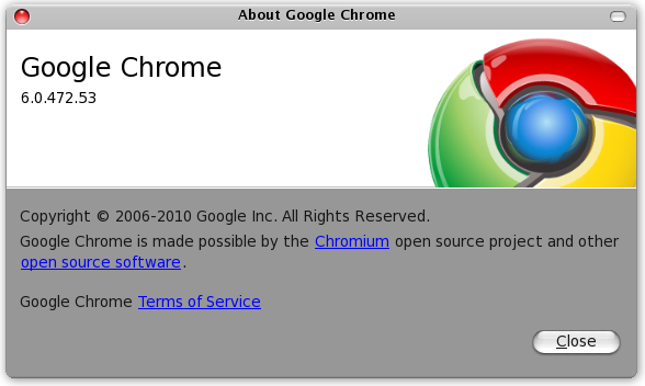 Google Chrome 6.0.472.53
