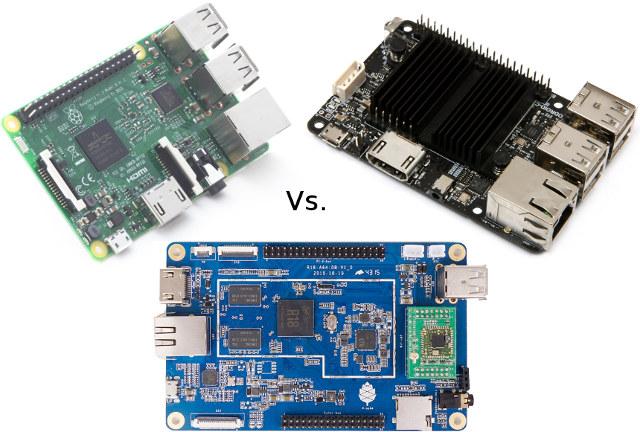 Raspberry Pi 3 vs. ODROID-C2 vs. PINE64